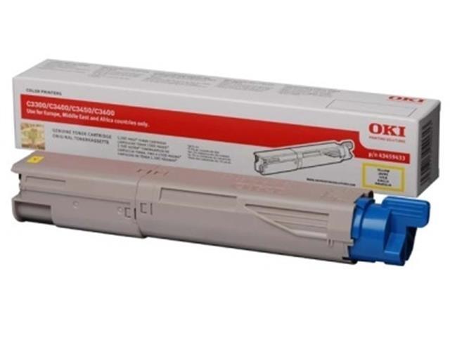 Toner OKI 43459433 - originálny (Žltý)