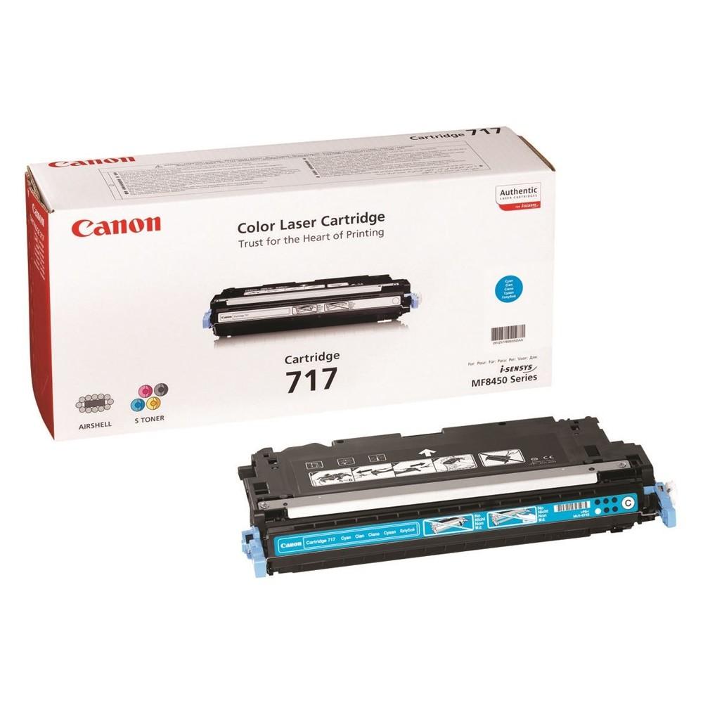 Toner Canon 717, CRG-717, 2577B002 - originálny (Azúrový)