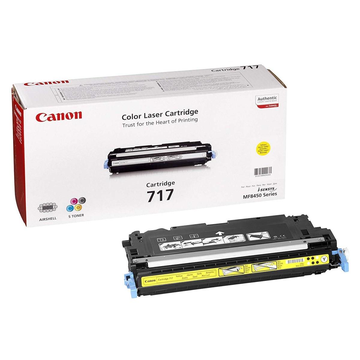 Toner Canon 717, CRG-717, 2575B002 - originálny (Žltý)