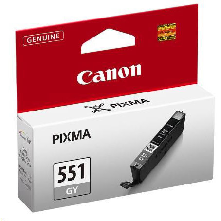 Cartridge Canon CLI-551 GY, 6512B001 (Šedá) - originálný