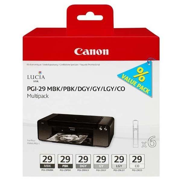 Cartridge Canon PGI-29 MBK / PBK / DGY / GY / LGY, 4868B005, Multipack - originálný