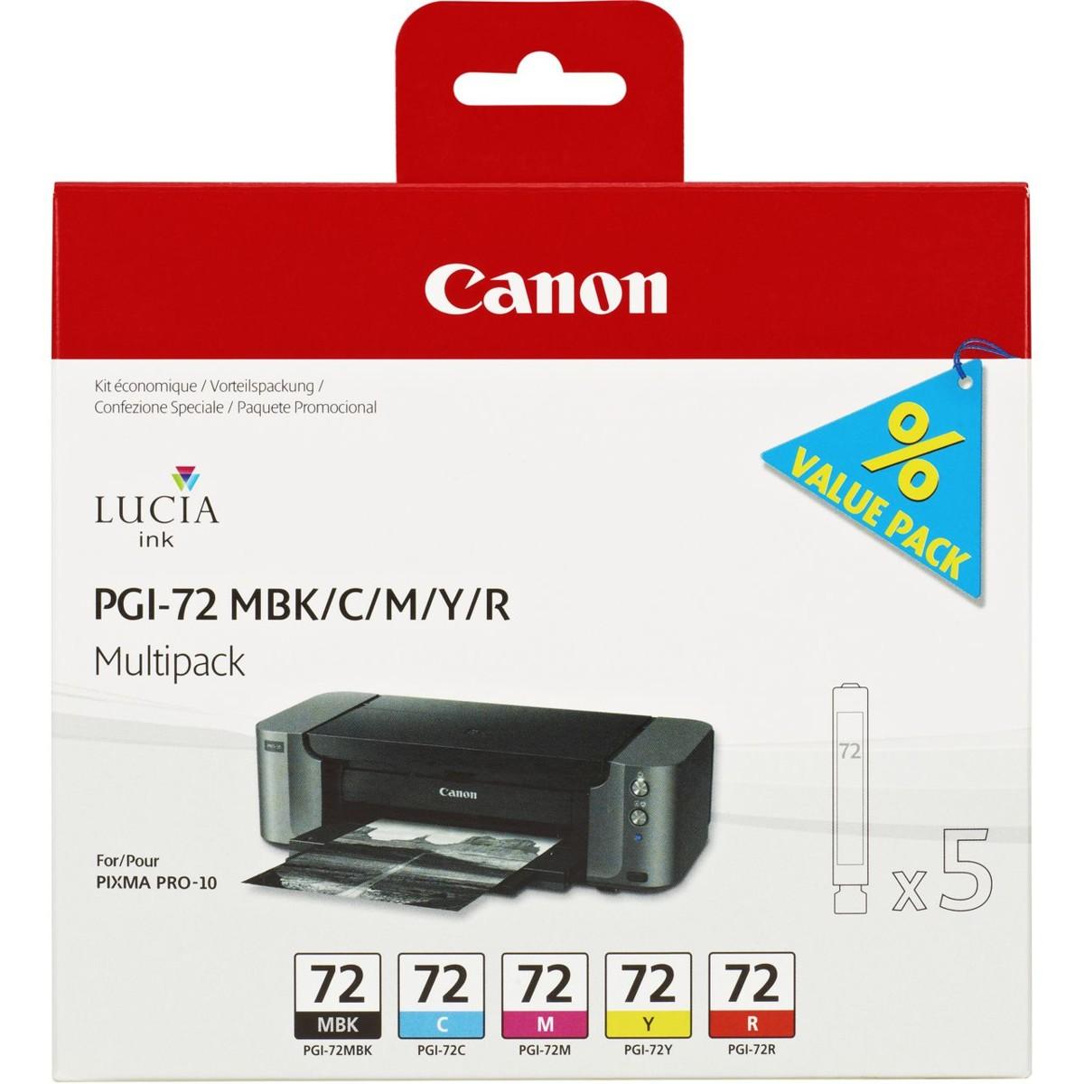 Sada Canon PGI-72 MBK / C / M / Y / R, 6402B009, Multi-pack - originálný