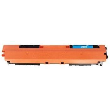 Tonery Náplně Toner HP CF351A, HP 130A kompatibilná kazeta s čipom (Azúrová)