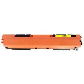 Tonery Náplně Toner HP CF352A, HP 130A kompatibilná kazeta s čipom (Žltá)