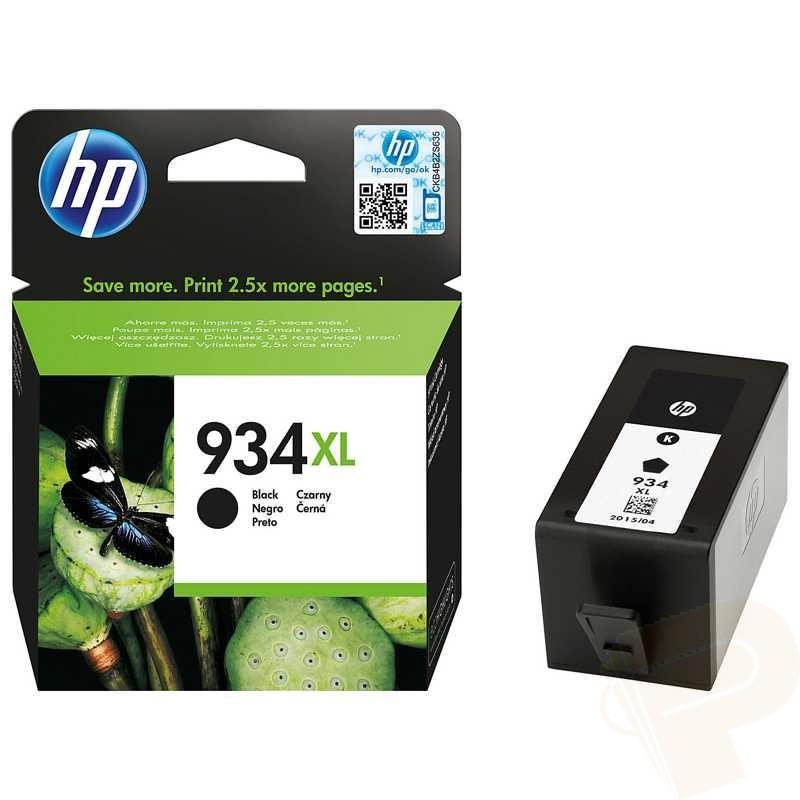 Cartridge HP 934XL, HP C2P23AE (Čierna) - originálný