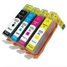 Tonery Náplně HP 655, sada všetkých farieb kompatibilnej (Čierna, azúrová, purpurová, žltá)