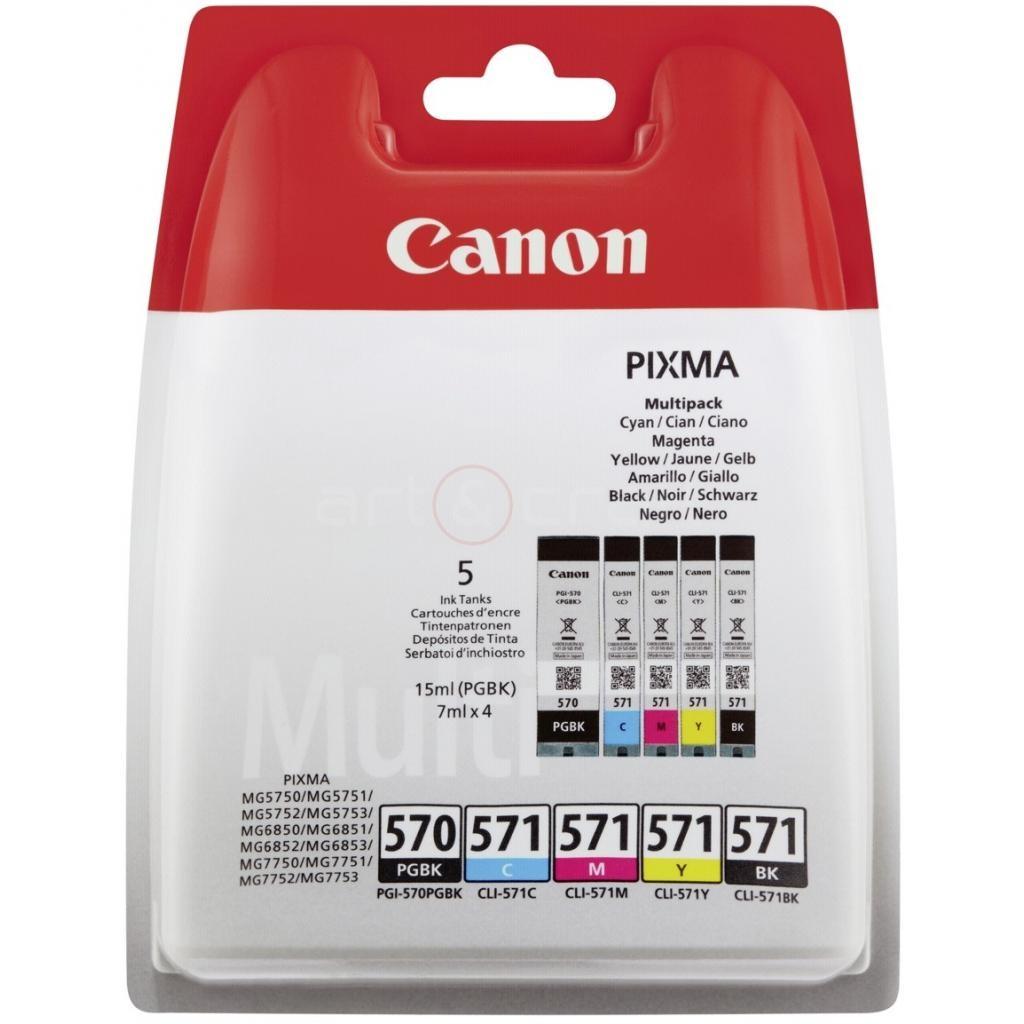 Cartridge Canon PGI-570 PGBk, CLI-571 C/M/Y/Bk, 0372C004 - originálny (Multipack)