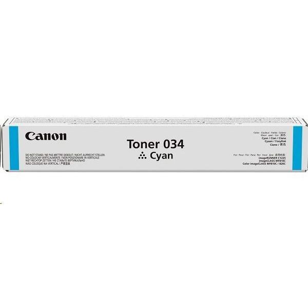 Toner Canon 034, 9453B001 - originálny (Azúrový)