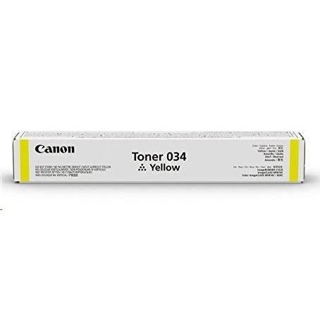 Toner Canon 034, 9451B001 - originálny (Žltý)