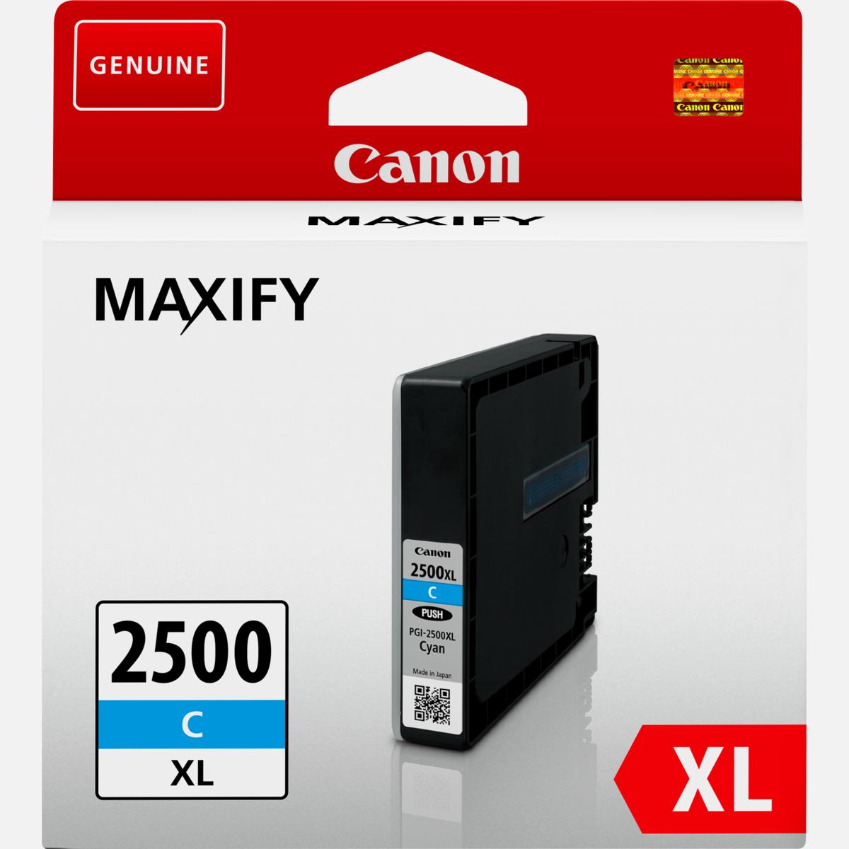 Cartridge Canon PGI-2500XL C, 9265B001 - originálny (Azúrová)