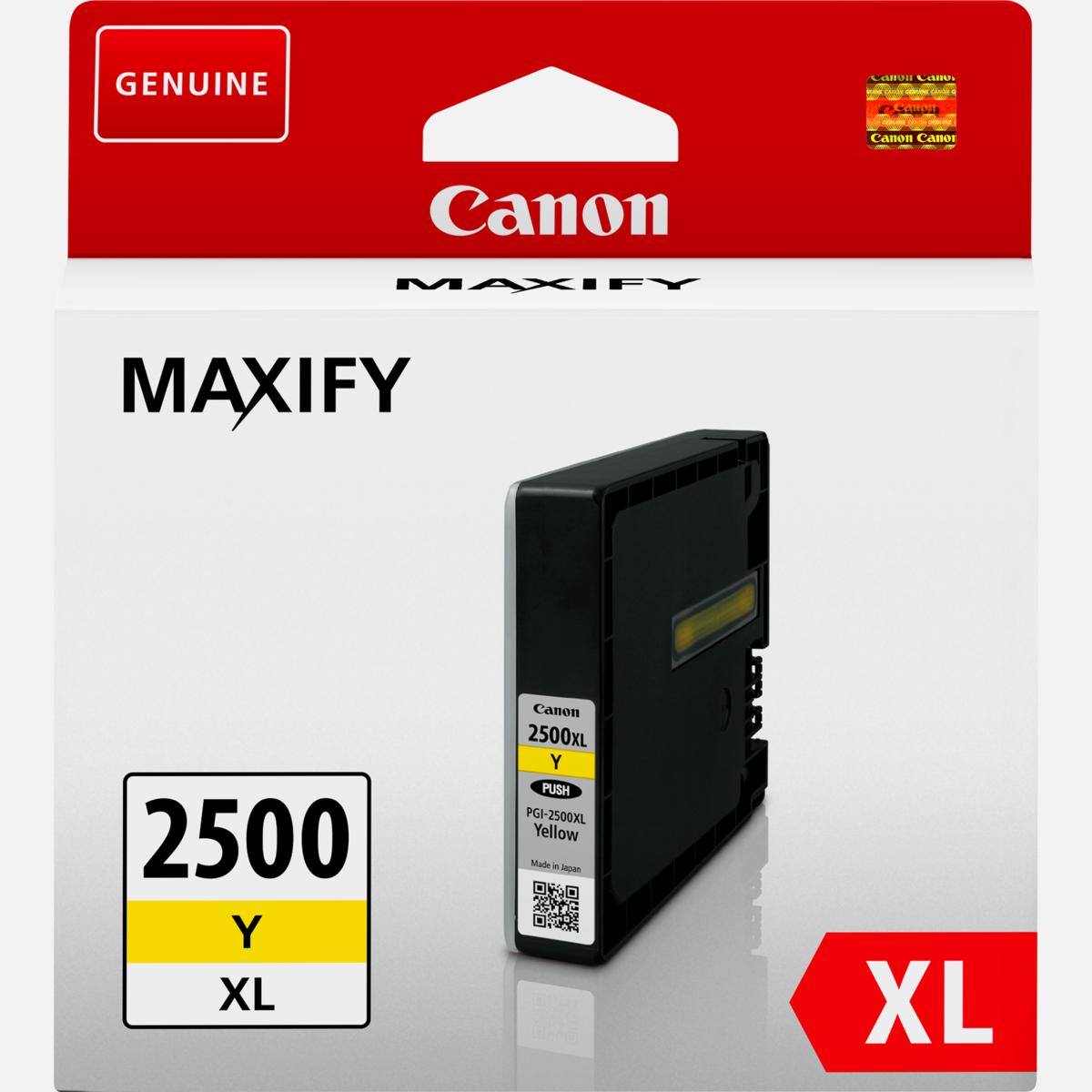 Cartridge Canon PGI-2500XL Y, Canon 9267B001 - originálny (Žltá)