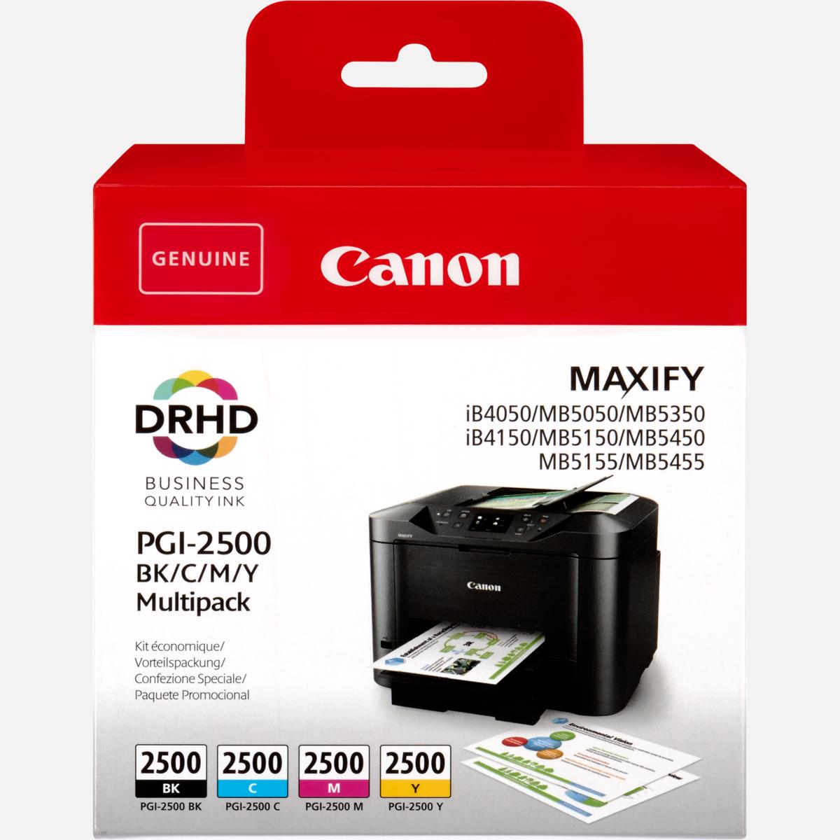 Canon PGI-2500XL BK/C/M/Y Multipack, Canon 9254B004, originální (sada)