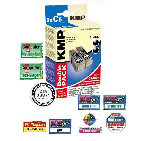 KMP Cartridge Canon BCI-3eBK, - kompatibilný s čipom (2xČierna)