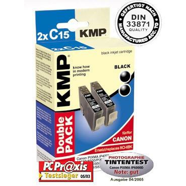 KMP Cartridge Canon BCI-6BK, - kompatibilný s čipom (2xČierna)