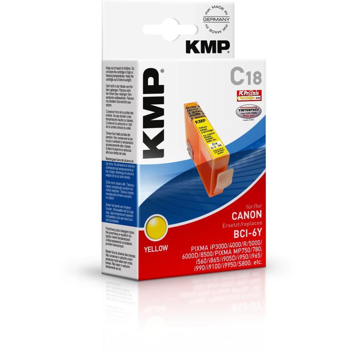 KMP Cartridge Canon BCI-6Y, - kompatibilný s čipom (Žltá)