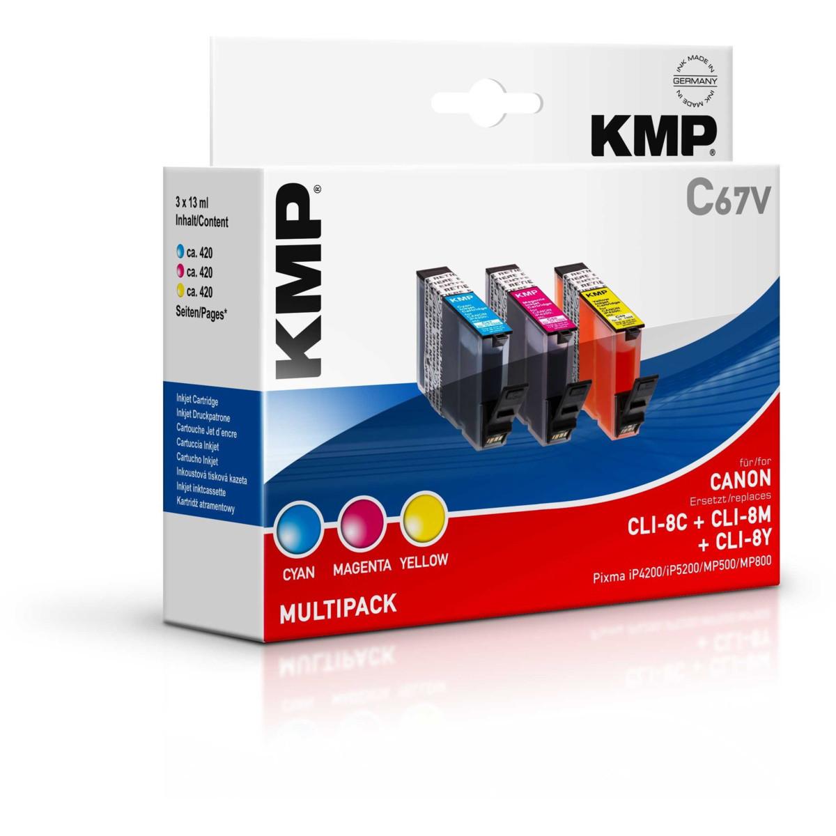 KMP Cartridge Canon CLI-8, - kompatibilný s čipom (Multipack)% - originál