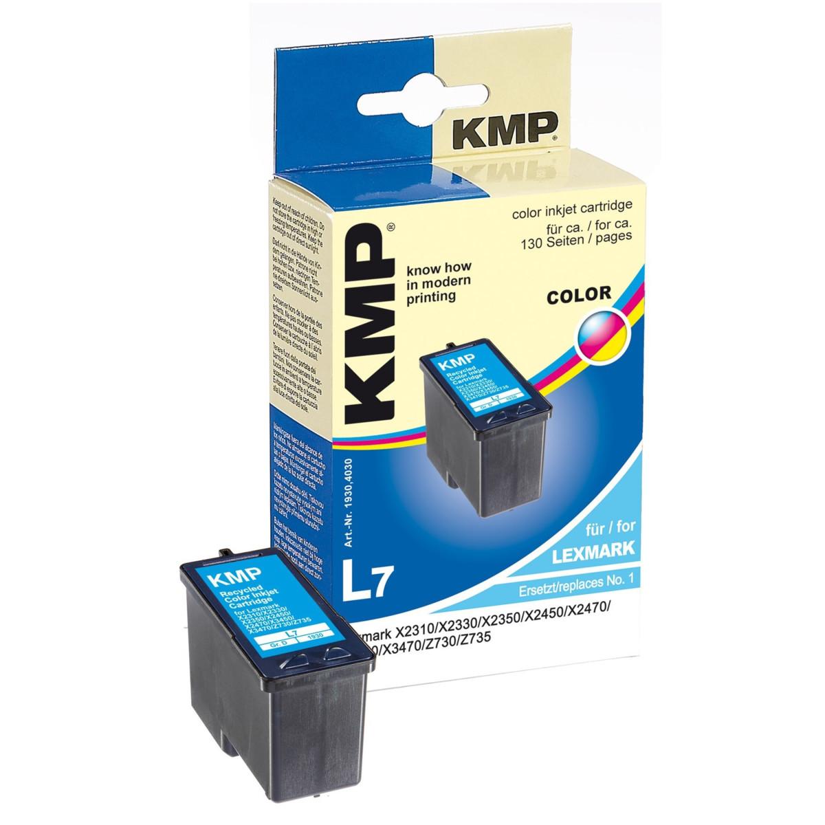 KMP Cartridge Lexmark 1, Lexmark 18C0781E, - renovovaná (Farebná)% - originál