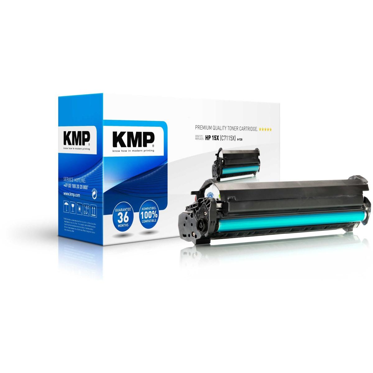 KMP Toner HP 15X, HP C7115X, - kompatibilný s čipom (Čierny)