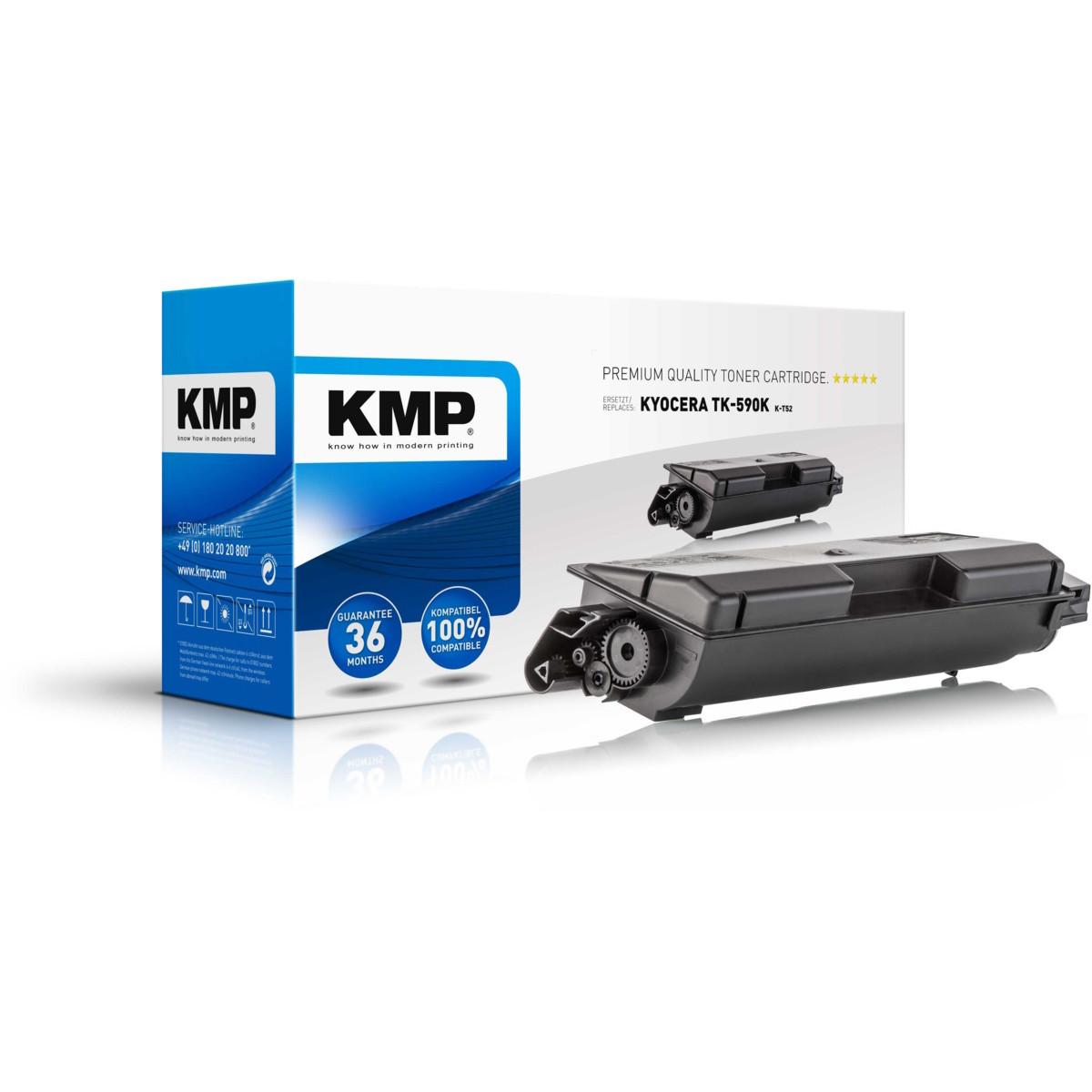KMP Toner Kyocera TK-590K, - kompatibilný s čipom (Čierna)