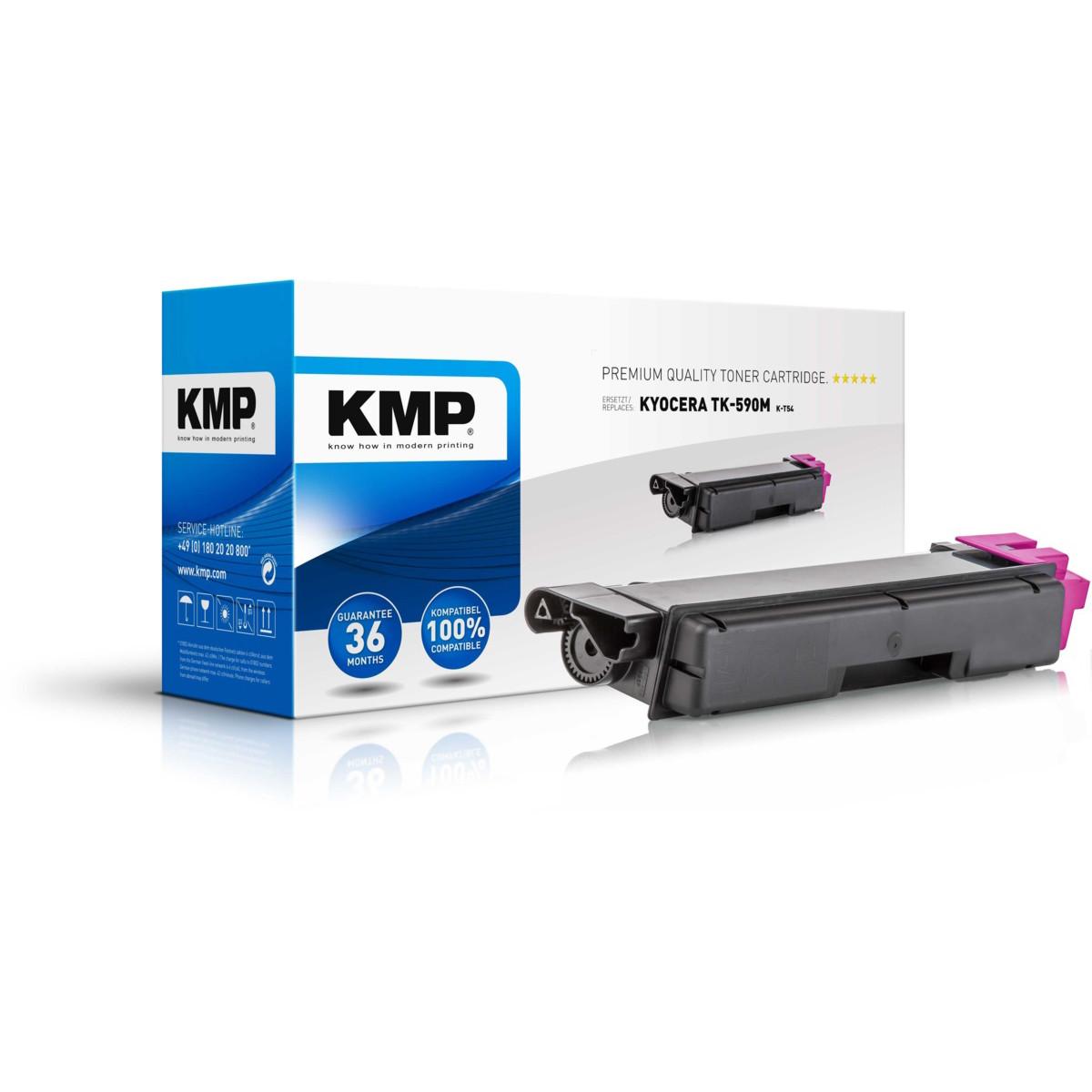 KMP Toner Kyocera TK-590M, - kompatibilný s čipom (Purpurová)