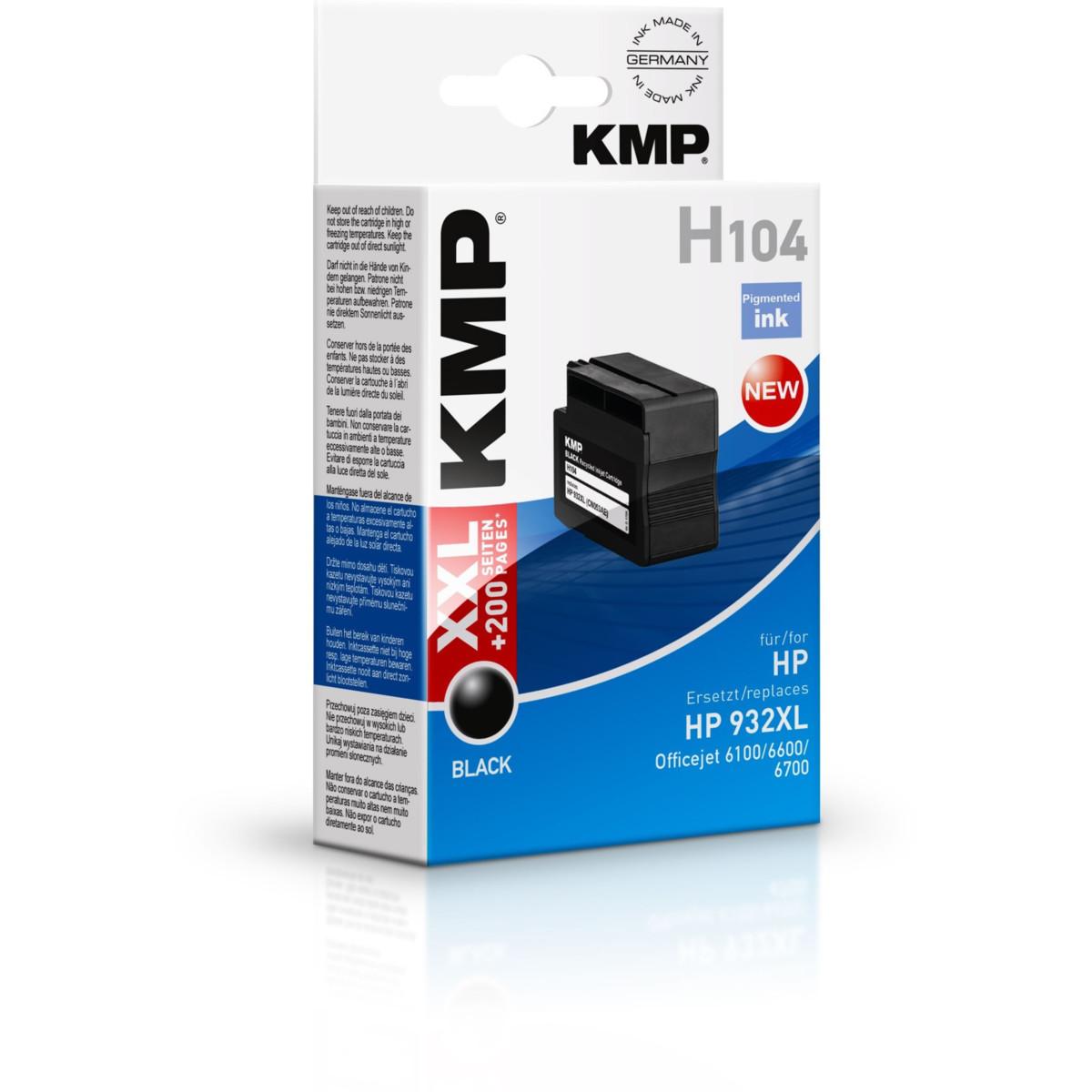 KMP Cartridge HP 932XL, HP CN053AE, - kompatibilný s čipom (Čierna)