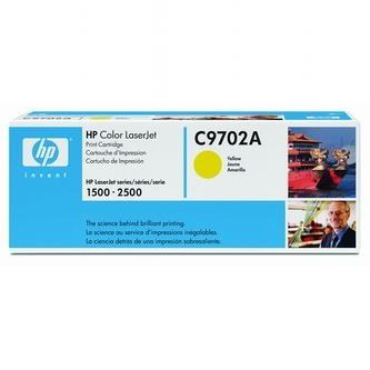 HP Tonerová cartridge HP Color LaserJet 1500, L, 2500, N, L, TN, žltá, C9702A, 400% - originál