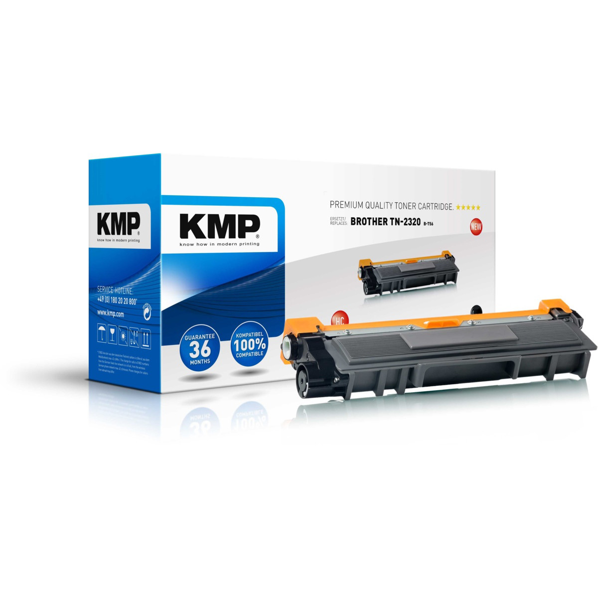 KMP Toner Brother TN-2320, - kompatibilný s čipom (Čierna)
