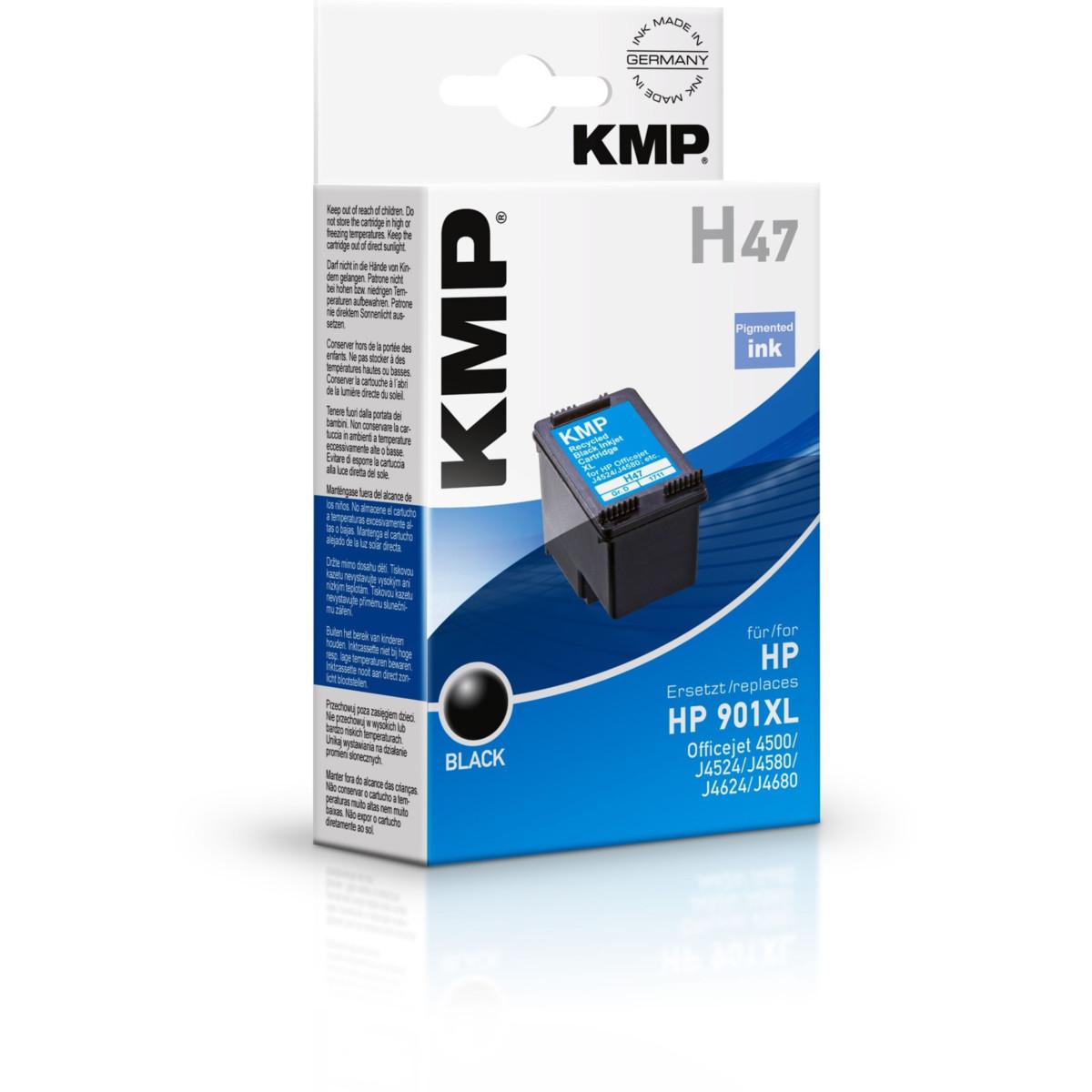 KMP Cartridge HP 901 XL, HP CC654AE, - kompatibilný s čipom (Čierna)