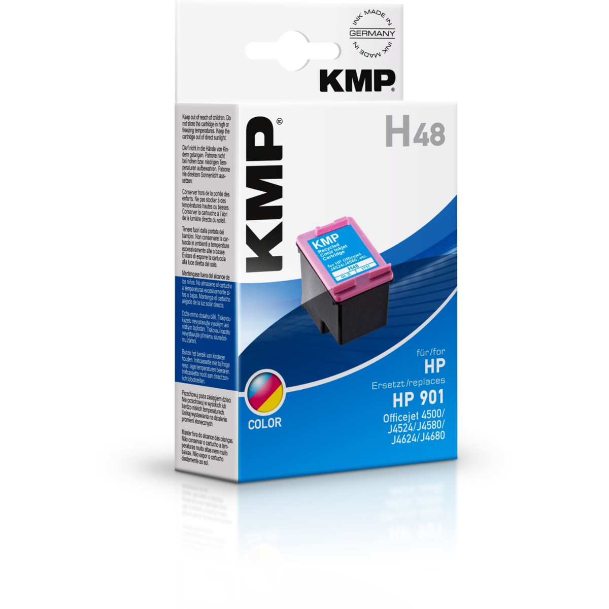 KMP Cartridge HP 901 XL, HP CC656AE, - kompatibilný s čipom (Farebná)