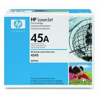 HP Tonerová cartridge HP LaserJet 4345mfp, M4345mfp, čierna, Q5945A, 18000s, O% - originál