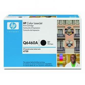 HP Tonerová cartridge HP Color LaserJet 4730mfp, 4730x, xm, xs, čierna, Q6460A, 1200% - originál