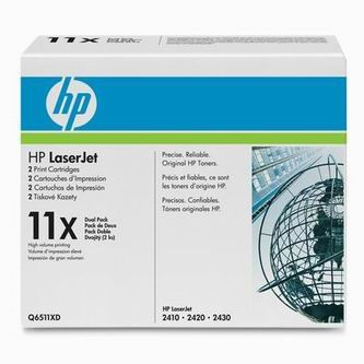 HP Tonerová cartridge HP LaserJet 2400, 2410, 2420, 2430, čierna, Q6511XD, 2x12000s,% - originál
