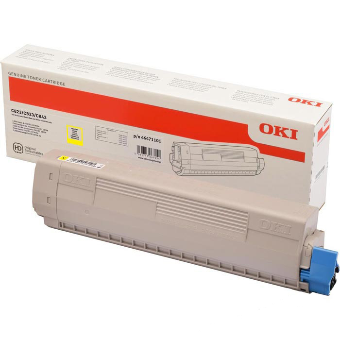 Toner OKI 46471101 - originálny (Žltý)
