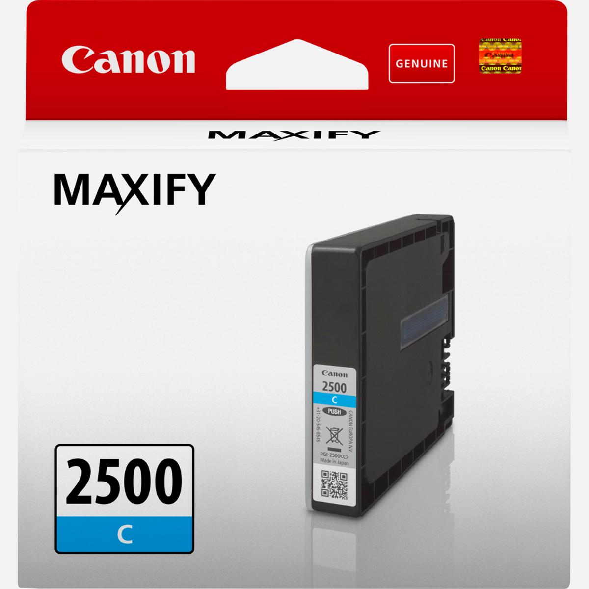 Cartridge Canon PGI-2500 C, 9301B001 - originálny (Azúrová)