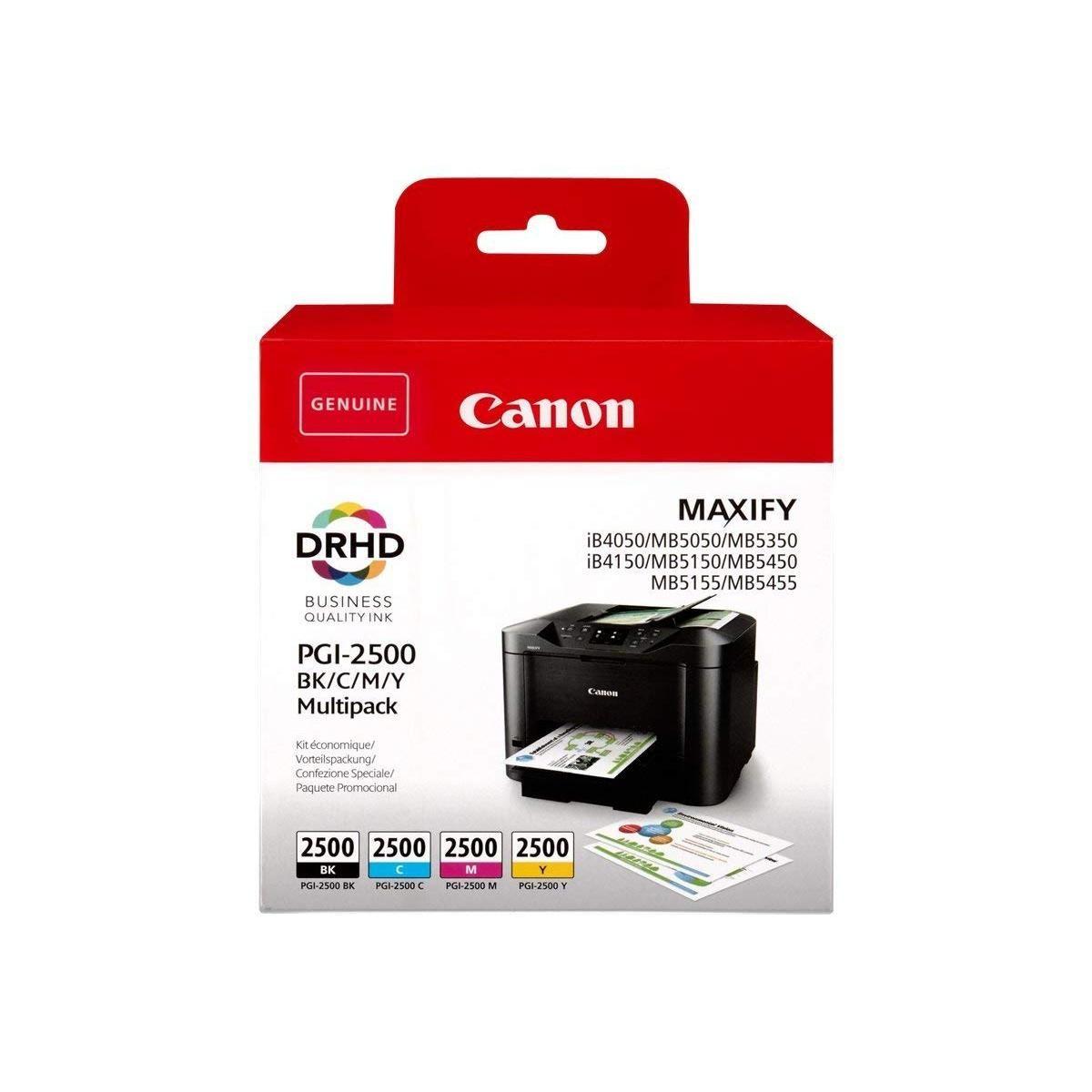 Cartridge Canon PGI-2500 BK/C/M/Y Multipack, 9290B004 - originálny (Multipack)