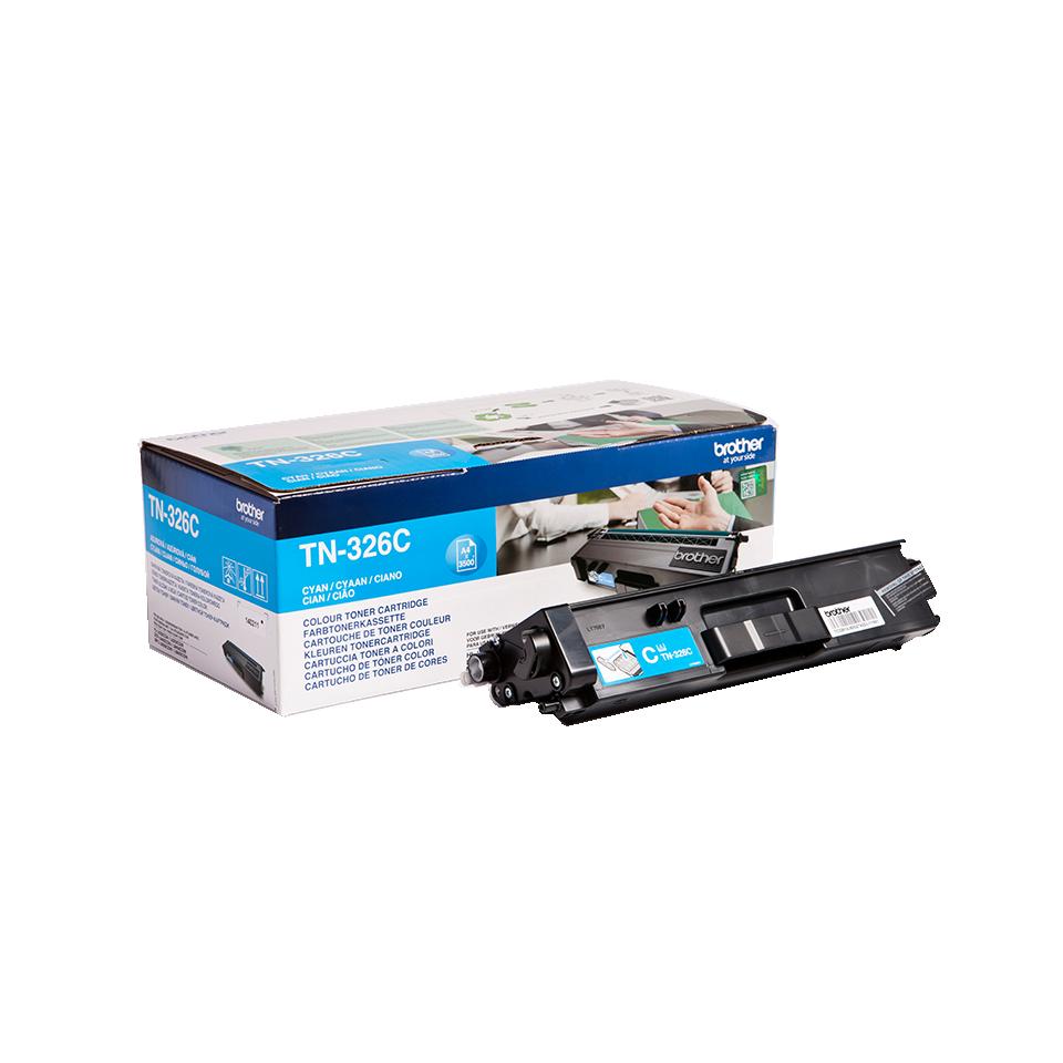 Toner Brother TN-326C, TN326C - originálny (Azúrový)