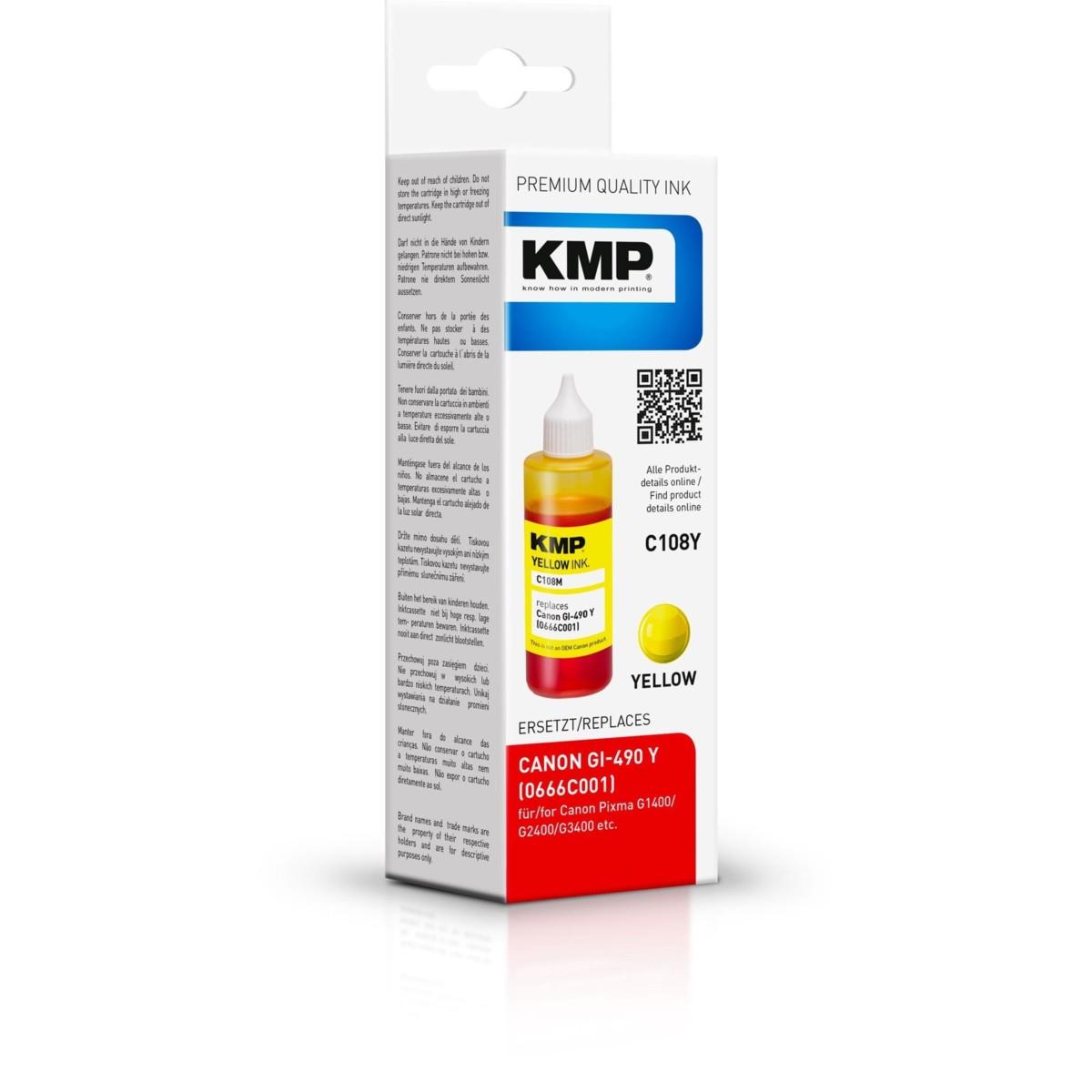 KMP Canon GI-490Y - kompatibilný s čipom