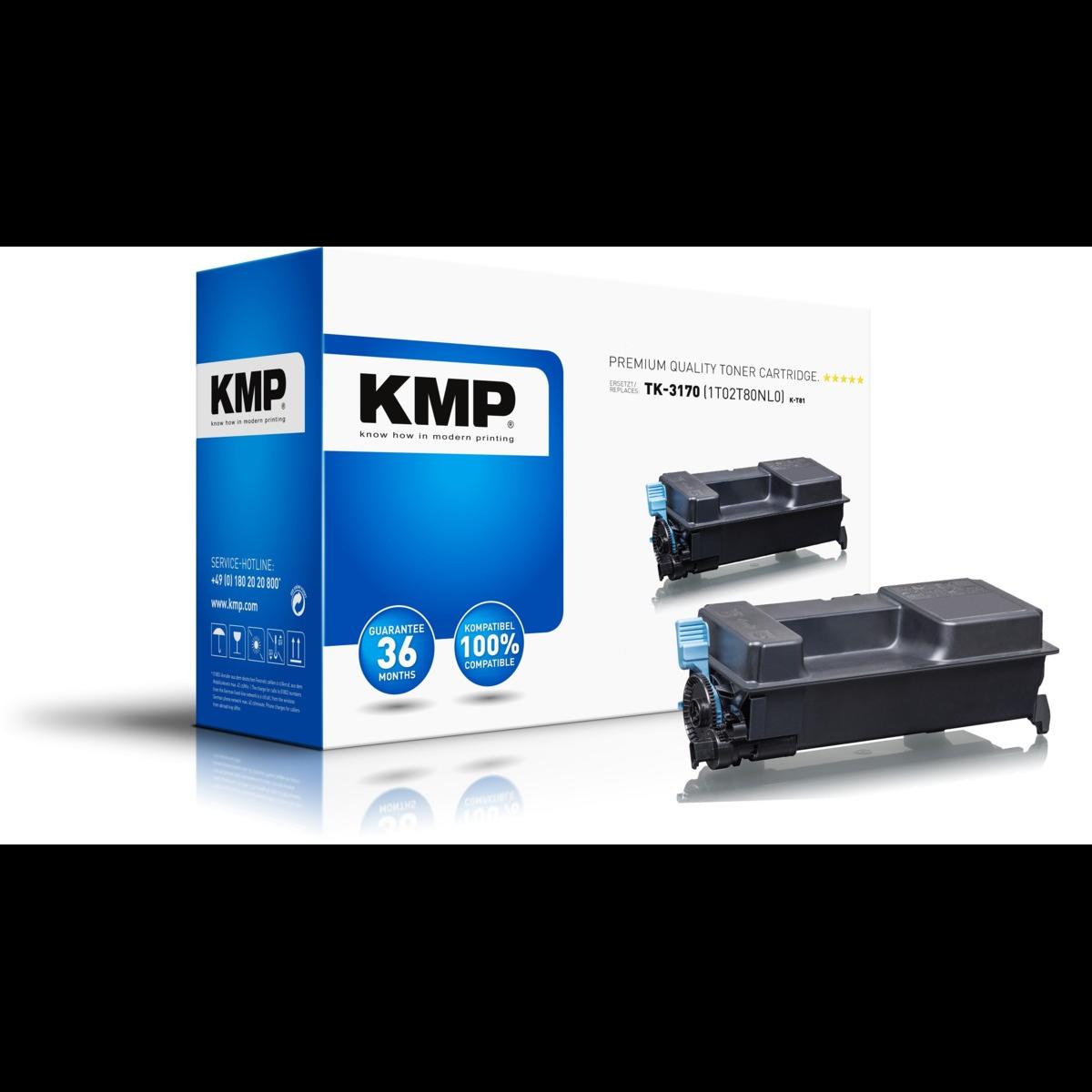 KMP kompatibilný s čipom toner Kyocera TK-3170, Kyocera 1T02T80NL0 (Čierny)