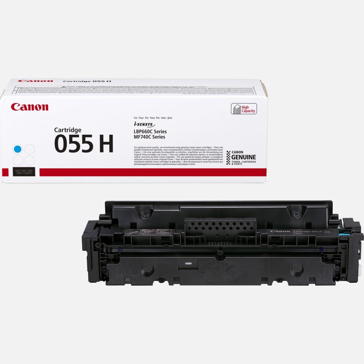 Toner Canon 055H, CRG-055H, 3019C002 - originálny (Azúrový)