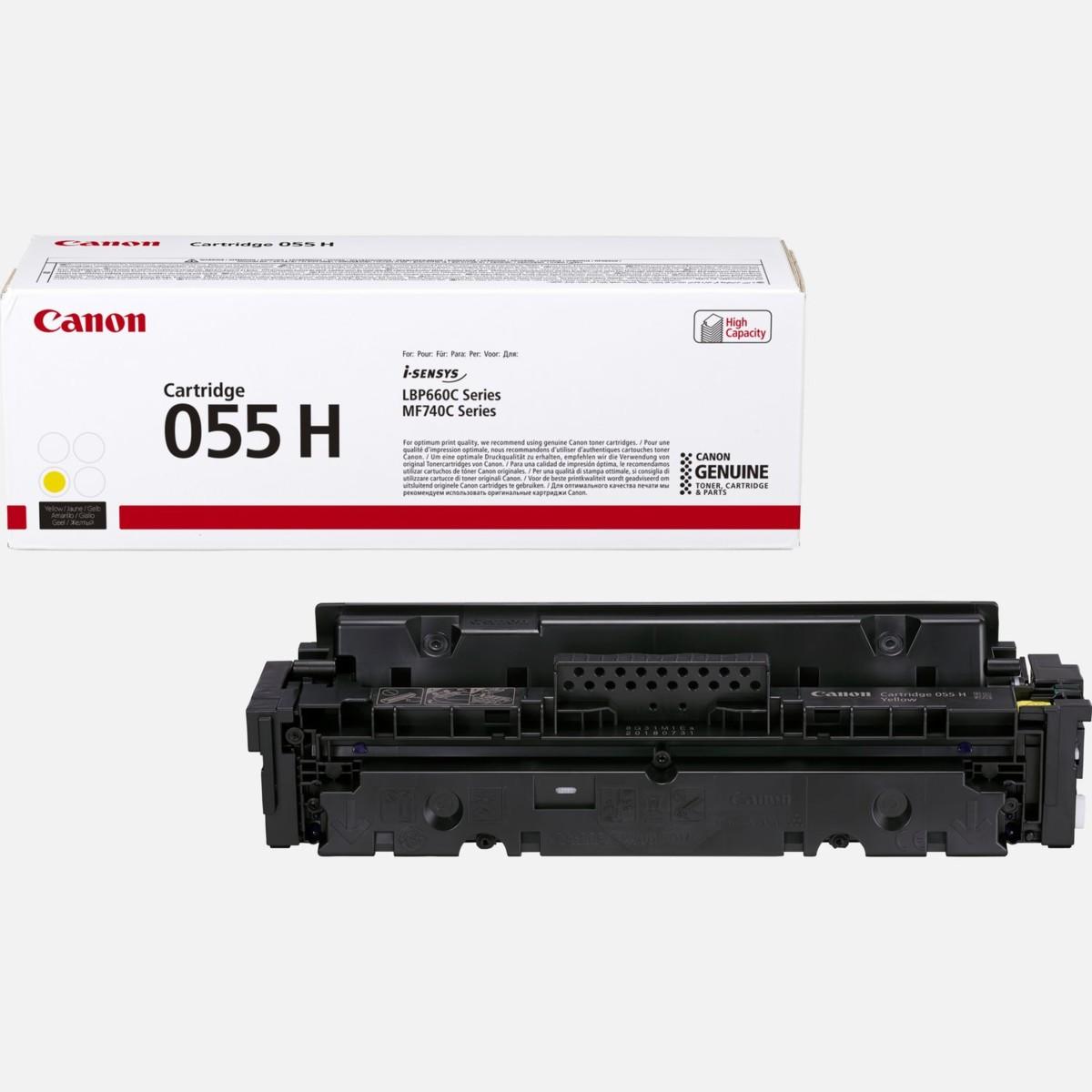Toner Canon 055H, CRG-055H, 3017C002 - originálny (Žltý)