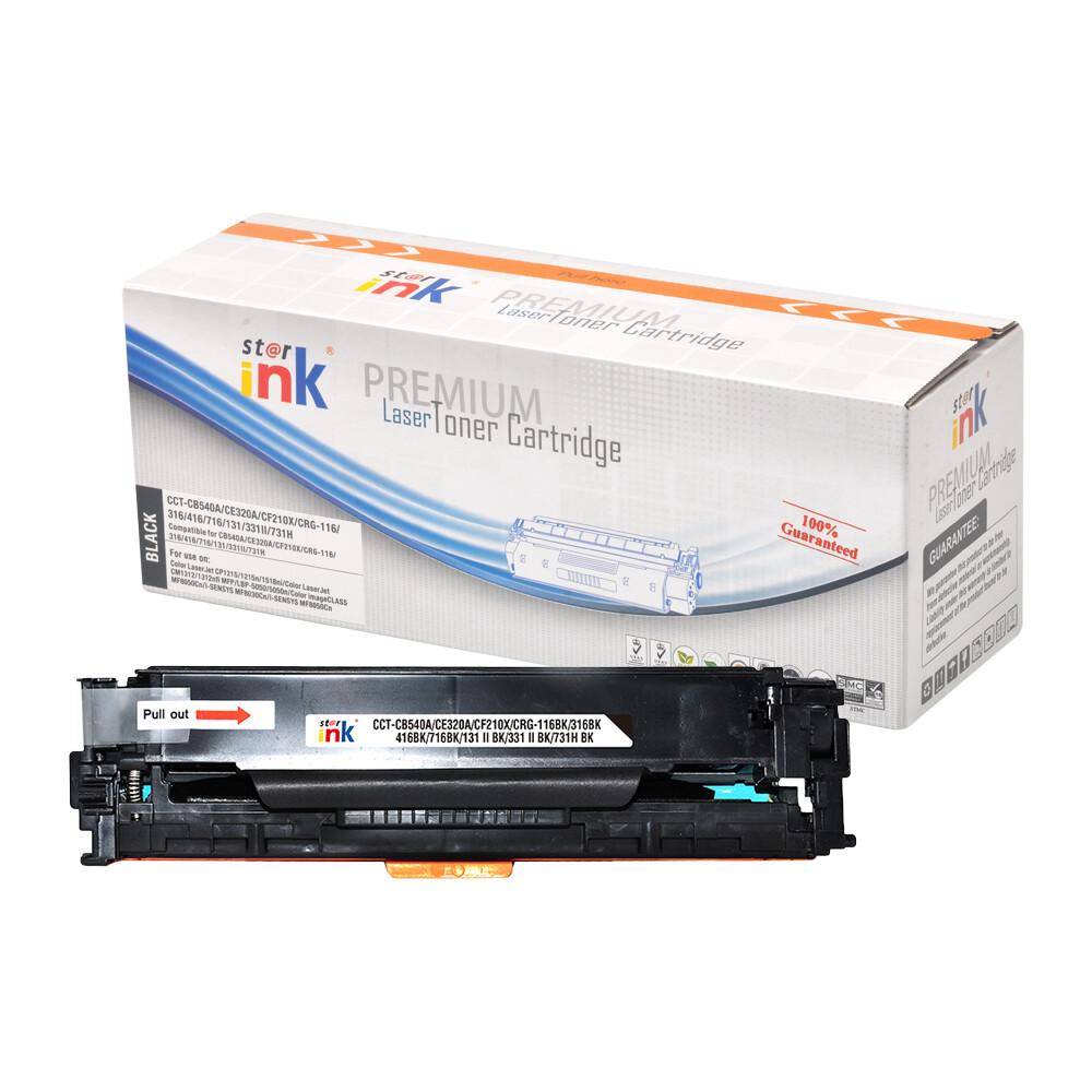Starink kompatibilný s čipom toner HP 125A, HP CB540A (Čierny)