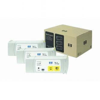 HP Atramentová cartridge HP DesignJet 5000, PS, UV, 5500, PS, UV, C4933A, žltá, No.% - originál