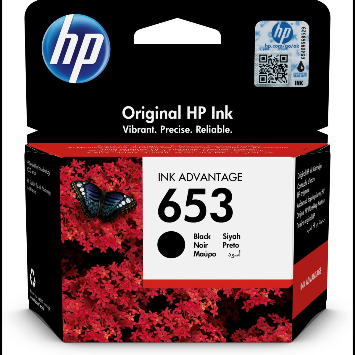 Cartridge HP 653, HP 3YM75AE - originálny (Čierna)