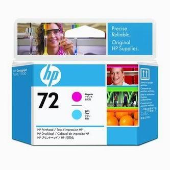 HP Atramentová cartridge HP Designjet T1100, C9383A, červená + modrá, No. 72, tlačová% - originál