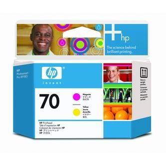 HP Tlačová hlava HP Photosmart Pro B9180, Designjet Z2100, Z3100, C9406A, červená + ž% - originál