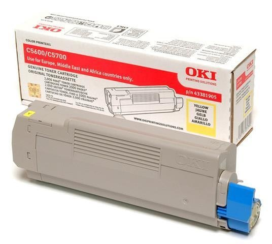 Oki Toner OKI C5600, 5700, červený, 43381906, 2000s, O - originál