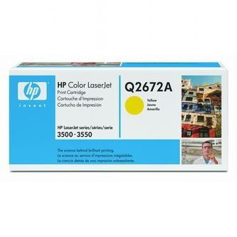 HP Tonerová cartridge HP Color LaserJet 3500, N, 3550, N, DN, DTN, žltá, Q2672A, 4% - originál