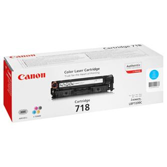 Canon 718, CRG-718, 2661B002 (Azúrový) - originálný