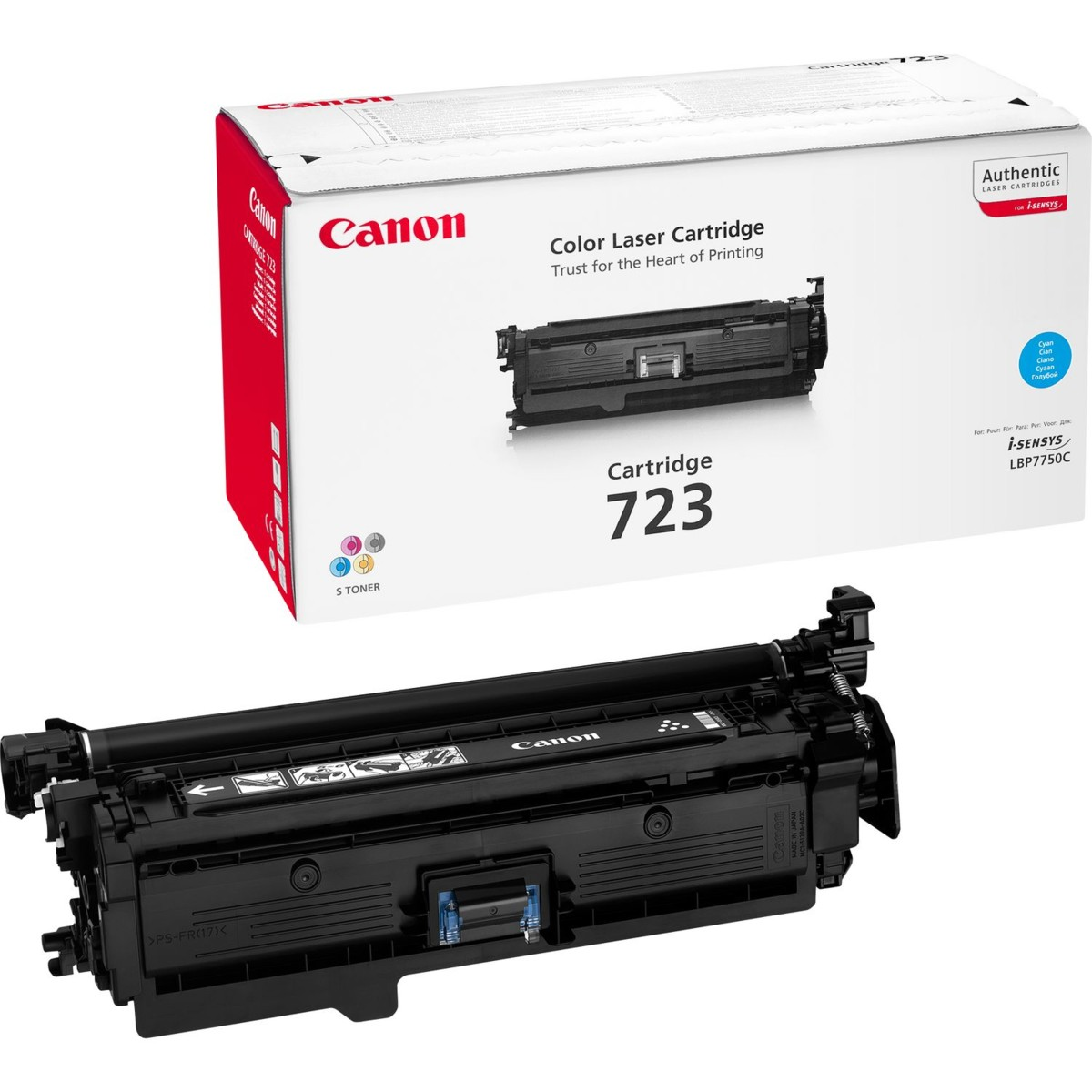 Toner Canon č.723 - CRG-723C, 2643B002 - originálný (Azúrový)
