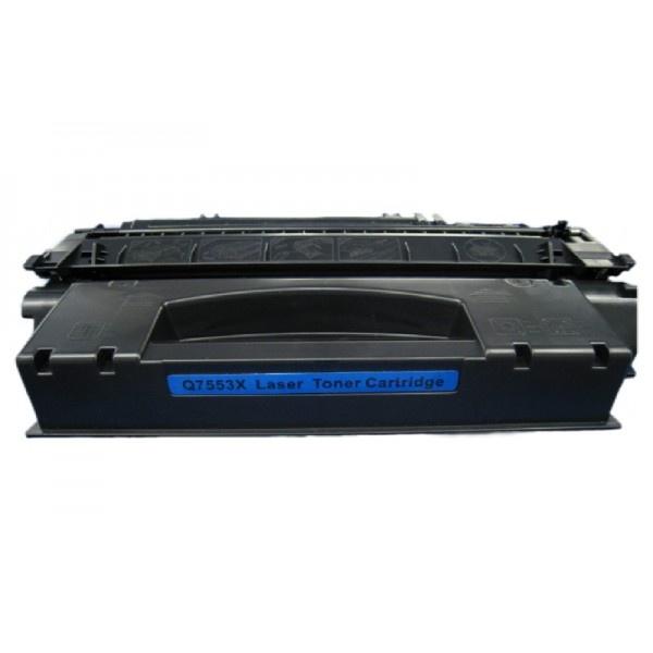 Tonery Náplně Toner HP Q7553X kompatibilný s čipom kazeta (Čierna)